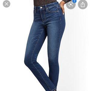 New York & Co curvy skinny blue jeans sz 2 petite
